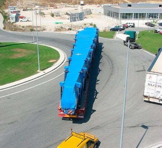 Fundas de lonas para transportes especiales